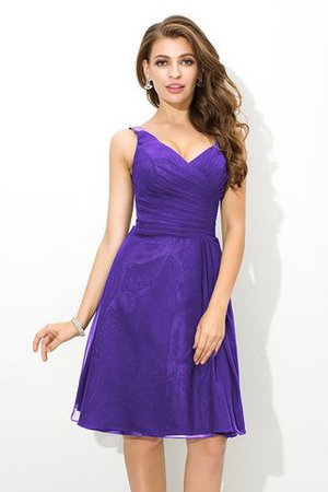 Chiffon Princess Sleeveless Natural Waist Draped Bridesmaid Dress - 24