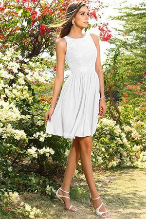 A-Line Natural Waist Sleeveless Chiffon Short Bridesmaid Dress - 29