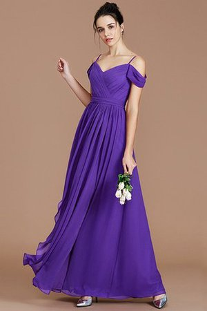 Chiffon Floor Length A-Line Ruched Bridesmaid Dress - 30