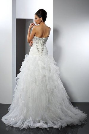 Tulle Sleeveless Ball Gown Long Ruffles Wedding Dress - 2