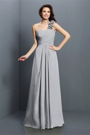 Zipper Up One Shoulder Chiffon A-Line Bridesmaid Dress - 27