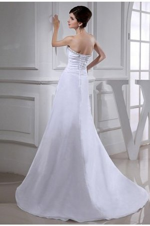 Princess Empire Waist Taffeta Long Lace-up Wedding Dress - 2