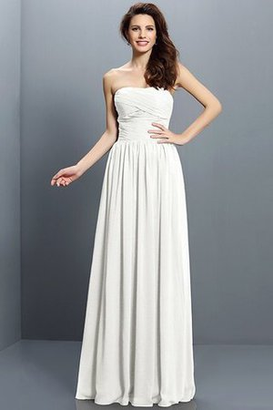 Strapless A-Line Pleated Zipper Up Bridesmaid Dress - 16
