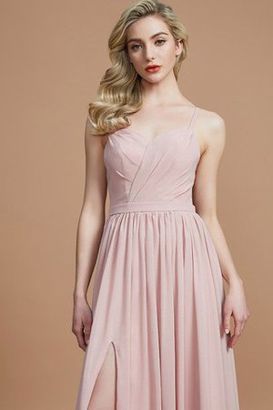 Natural Waist Sleeveless Floor Length Princess Chiffon Bridesmaid Dress - 2