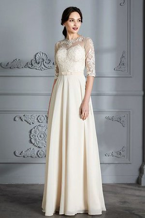 Natural Waist A-Line Scoop Half Sleeves Wedding Dress - 5