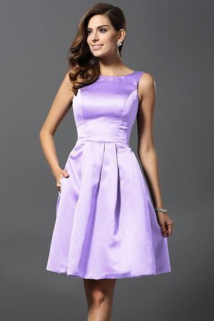 A-Line Knee Length Natural Waist Bridesmaid Dress - 19