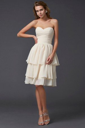 Short Chiffon Sheath Sleeveless Zipper Up Bridesmaid Dress - 1