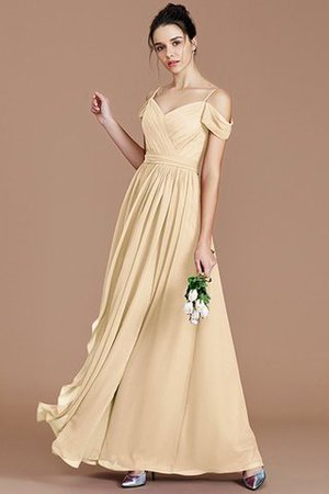 Chiffon Floor Length A-Line Ruched Bridesmaid Dress - 12