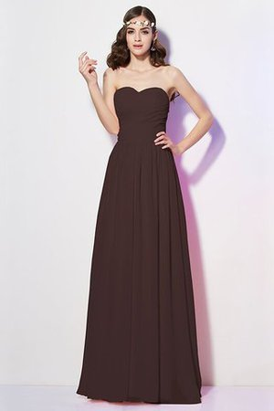 Pleated Zipper Up Empire Waist A-Line Bridesmaid Dress - 6