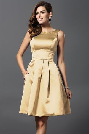 A-Line Knee Length Natural Waist Bridesmaid Dress - 12