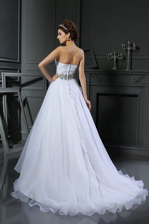Beading Ball Gown Sleeveless Satin Long Wedding Dress - 2