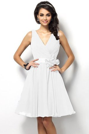 Draped A-Line V-Neck Natural Waist Bridesmaid Dress - 29