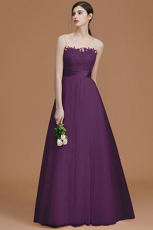 Tulle Zipper Up A-Line Appliques Bridesmaid Dress - 19