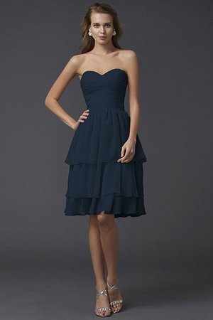Short Chiffon Sheath Sleeveless Zipper Up Bridesmaid Dress - 11