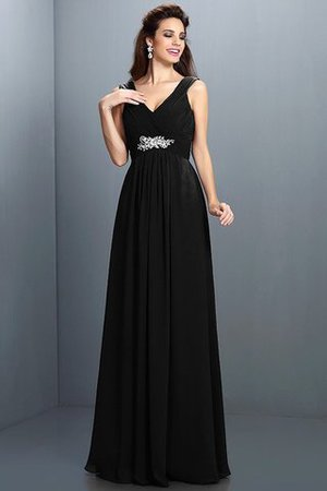 A-Line Chiffon Long Sleeveless Bridesmaid Dress - 2