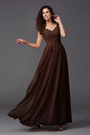 Sashes Floor Length Spaghetti Straps A-Line Bridesmaid Dress - 21