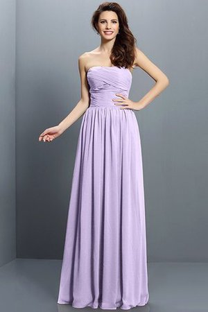 Strapless A-Line Pleated Zipper Up Bridesmaid Dress - 19