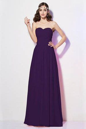 Pleated Zipper Up Empire Waist A-Line Bridesmaid Dress - 14