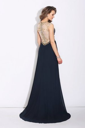 Sleeveless A-Line Natural Waist Sweep Train Evening Dress - 2