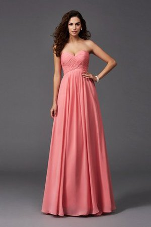 A-Line Sleeveless Chiffon Empire Waist Bridesmaid Dress - 1