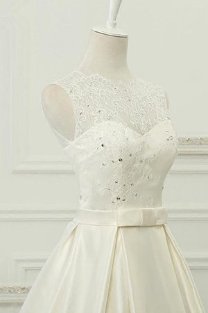 Chiffon 3/4 Length Sleeves Tea Length Sequined Lace Fabric Wedding Dress - 2