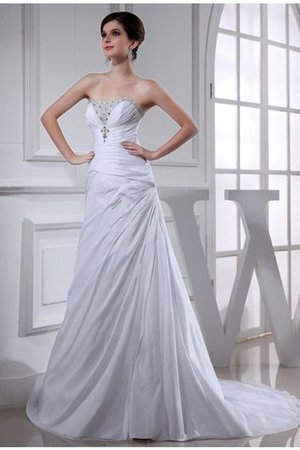 Princess Empire Waist Taffeta Long Lace-up Wedding Dress - 1