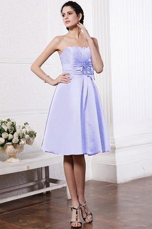 Zipper Up Princess Short Flowers Pleated Bridesmaid Dress - 18