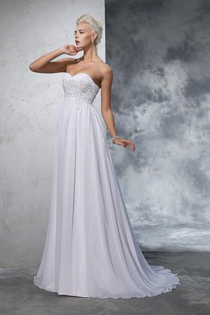 Sweetheart Empire Waist Chiffon Sleeveless Long Wedding Dress - 3