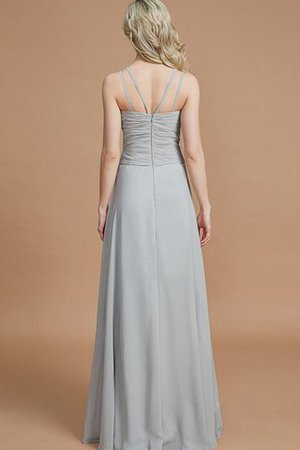 Natural Waist Floor Length A-Line V-Neck Bridesmaid Dress - 35