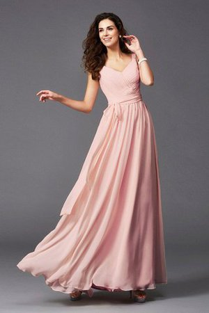 Sashes Floor Length Spaghetti Straps A-Line Bridesmaid Dress - 17