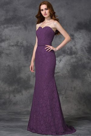 Appliques Zipper Up Sleeveless Floor Length Natural Waist Bridesmaid Dress - 5