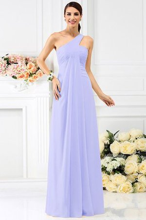 Zipper Up Long Floor Length A-Line Bridesmaid Dress - 17