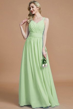 Sleeveless Natural Waist A-Line V-Neck Bridesmaid Dress - 32