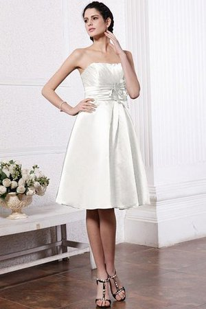 Zipper Up Princess Short Flowers Pleated Bridesmaid Dress - 16