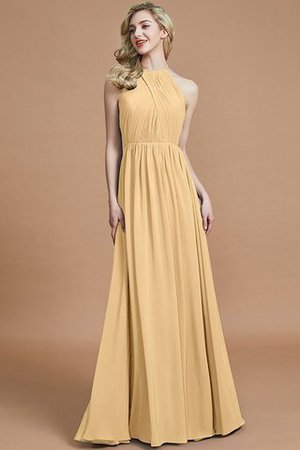 Sleeveless Floor Length A-Line Scoop Bridesmaid Dress - 17