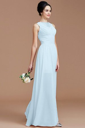 Ruched Zipper Up Natural Waist Jewel Sleeveless Bridesmaid Dress - 24