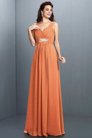 A-Line Chiffon Long Sleeveless Bridesmaid Dress - 21