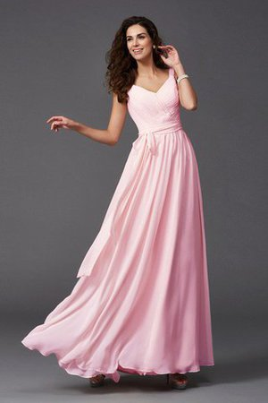 Sashes Floor Length Spaghetti Straps A-Line Bridesmaid Dress - 4