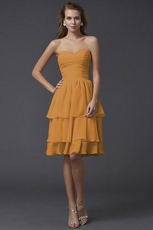 Short Chiffon Sheath Sleeveless Zipper Up Bridesmaid Dress - 20