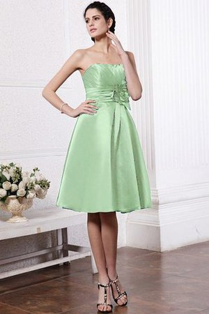 Zipper Up Princess Short Flowers Pleated Bridesmaid Dress - 25