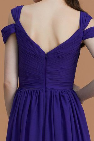 Natural Waist A-Line Ruched Floor Length Bridesmaid Dress - 10