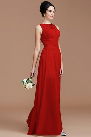 Ruched Zipper Up Natural Waist Jewel Sleeveless Bridesmaid Dress - 29