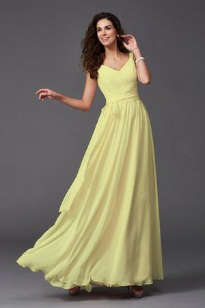 Sashes Floor Length Spaghetti Straps A-Line Bridesmaid Dress - 25