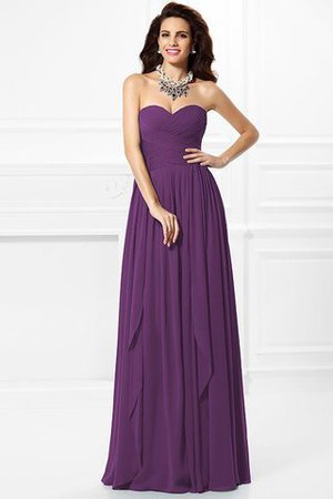 A-Line Zipper Up Long Floor Length Bridesmaid Dress - 5