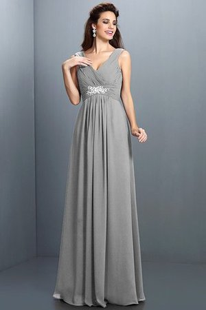 A-Line Chiffon Long Sleeveless Bridesmaid Dress - 27