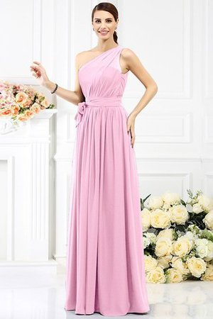 Long Sleeveless A-Line One Shoulder Bridesmaid Dress - 22