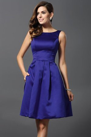 A-Line Knee Length Natural Waist Bridesmaid Dress - 25