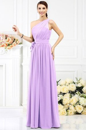 Long Sleeveless A-Line One Shoulder Bridesmaid Dress - 21
