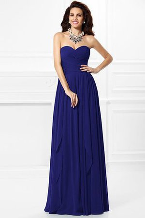 A-Line Zipper Up Long Floor Length Bridesmaid Dress - 26