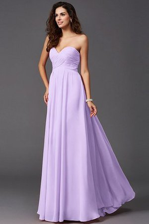A-Line Sleeveless Chiffon Empire Waist Bridesmaid Dress - 19